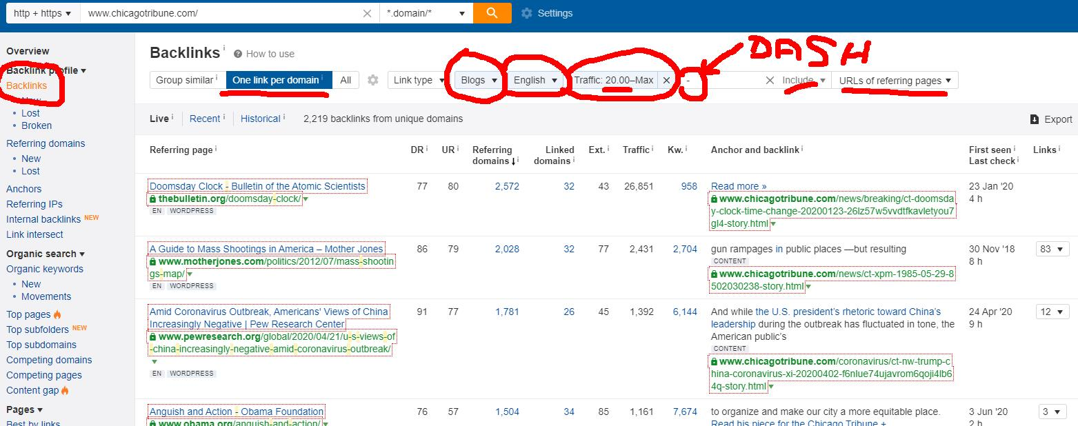 How to find high quality blogs for comment backlinks